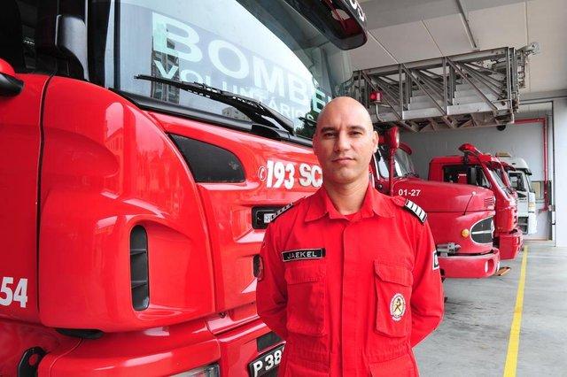 JOINVILLE,SC,BRASIL,15-02-2018.Jornal A Notícia Comemora 95 anos.Jaekel Antonio de Souza,comandante do bombeiros voluntário de Joinville.(Foto:Salmo Duarte/A Notícia)