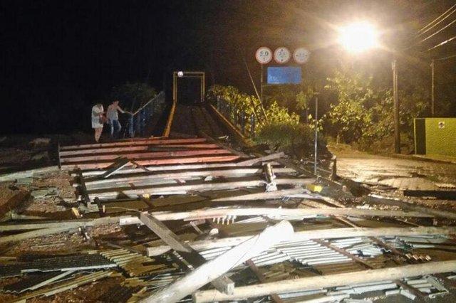Chuva causa estragos em Rio do Sul