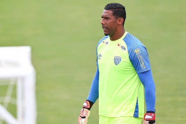 FLORIANÓPOLIS, SC, BRASIL, 07-03-2018: Aranha, goleiro do Avaí.