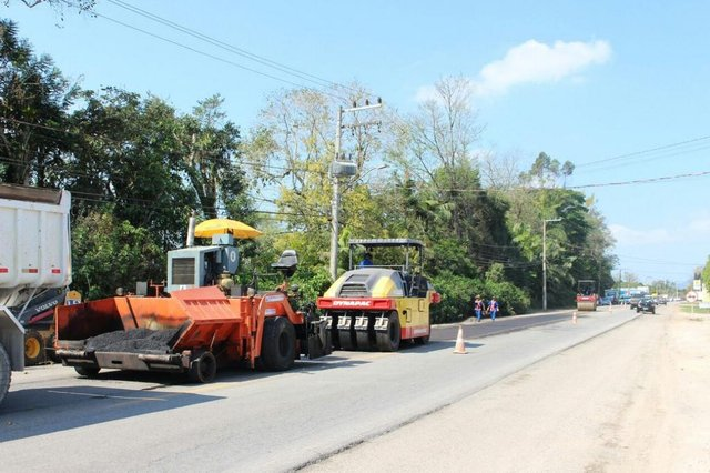 Fresagem rodovia Jorge Lacerda