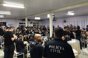 Ao todo são 150 agentes mobilizados na operação, sendo 110 da Polícia Civil e 40 da Polícia Militar (Divulgação/Polícia Civil Sombrio)