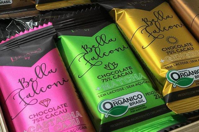 Chocolates Lugano lança linha fiot assinada por Bella Falconi