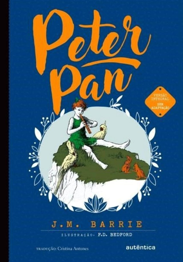 Capa do livro Peter Pan - dicas de leitura para o Dia Internacional do Livro Infantil