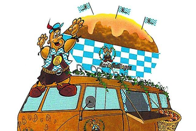 Kartoffelwaggen, Carro da Batata, desfile, Oktoberfest