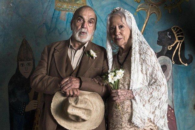 o outro lado do paraíso, Casamento Mercedes (Fernanda Montenegro) e Josafá (Lima Duarte)