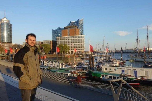 Bruno Krueger Franco, porto de Hamburgo, Alemanha, case, Semana da Língua Alemã