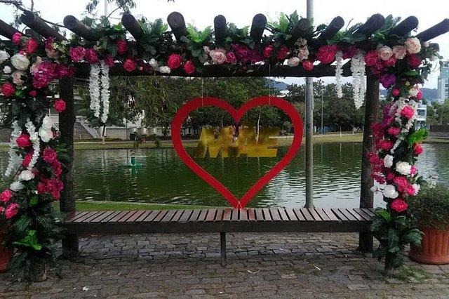 Ponto para foto do parque ramiro em Blumenau para o Dia das Mães