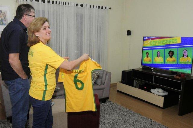 Família de Felipe Luís para copa do mundo, lateral esquerdo da seleção