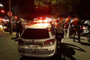 Polícia Militar montou barreiras e fez blitze durante a madrugada (Divulgação/Divulgação)