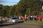 Manifestação no Km 65, da ERS-122, em Forqueta (Agencia RBS/Lucas Amorelli)