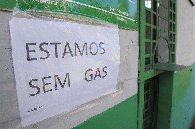 JOINVILLE,SC,BRASIL,28-05-2018.Greve dos caminhoneiros,falta de gás nas principais distribuidoras de gás de cozinha em Joinville.(Foto:Salmo Duarte/A Notícia)