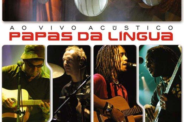 Reprodução da capa do CD Papas da Língua ao Vivo Acústico, da banda Papas da Língua.#PÁGINA:12 Fonte: Divulgação