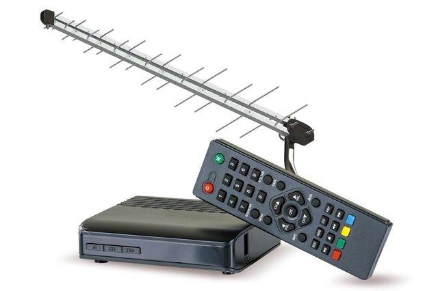 Kit, conversor, sinal digital, TV, TV digital, promoção, Santa