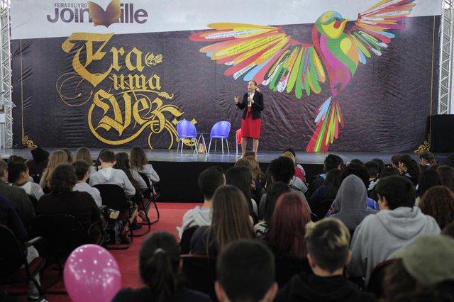 JOINVILLE,SC,BRASIL,11-06-2018.Feira do Livro,Marina Colasanti,escritora.(Foto:Salmo duarte/A Notícia)Indexador: Maykon Lammerhirt