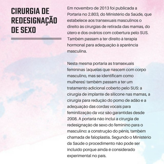 Caderno Nós, Transexualidade