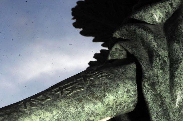 CAXIAS DO SUL, RS, BRASIL, 21/06/2018. Novo trabalho da escultora Dilva Conte, Anjo Samuel, será entregue à comunidade neste domingo, no Largo Fábio Formolo, em frente ao Cemitério Público Municipal. (Marcelo Casagrande/Agência RBS)