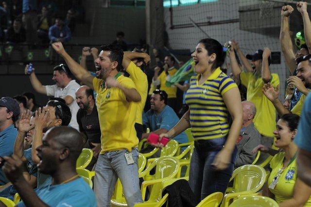 JOINVILLE,SC,BRASIL,22-06-2018.Copa do Mundo 2018.Funcionários da Embraco puderam assistir o jogo na recreativa da empresa.(Foto:Salmo Duarte/A Notícia)Indexador: Maykon Lammerhirt
