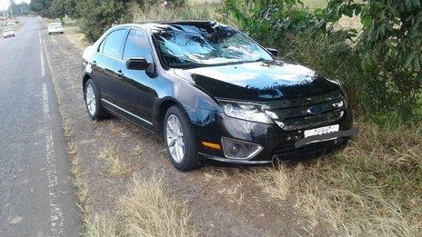 Ciclista morreu após ser atingido por veículo na cidade de Ermo, no Sul do estado (Corpo de Bombeiros/Divulgação / Corpo de Bombeiros)