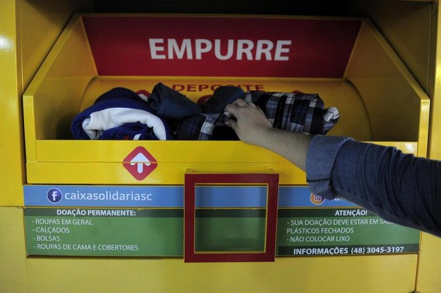 JOINVILLE,SC,BRASIL,25-06-2018.Termômetro Solidário.(Foto:Salmo Duarte/A Notícia)Indexador: Maykon Lammerhirt