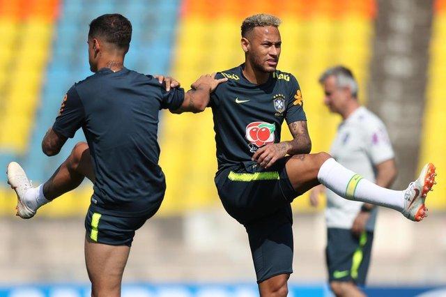 SOCHI, RÚSSIA, 25.06.2018. Treino da Seleção Brasileira em Sochi. Na foto, Neymar
