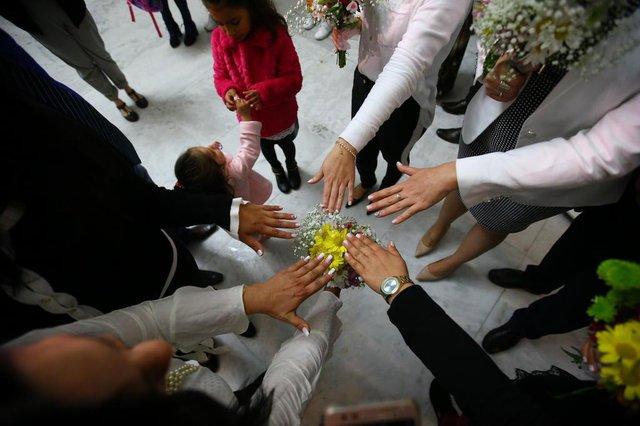 PORTO ALEGRE - BRASIL - Casamento Coletivo no Palácio da Justiça. (FOTO: LAURO ALVES)