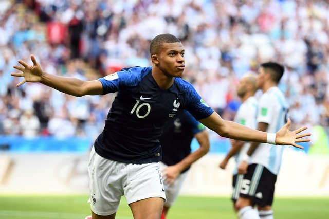 frança, argentina, copa do mundo, kazan, mbappé, gol