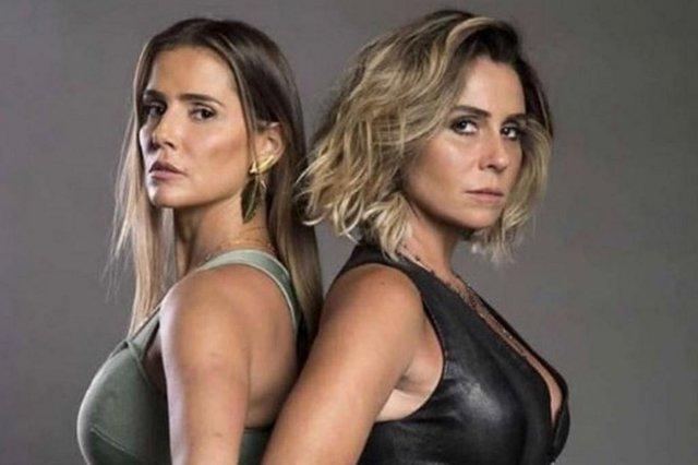 Em Segundo Sol, Karola (Deborah Secco) e Luzia (Giovanna Antonelli).