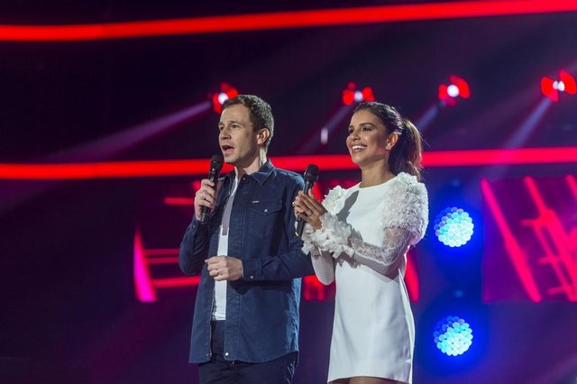 the voice brasil,  Tiago Leifert e Mariana Rios