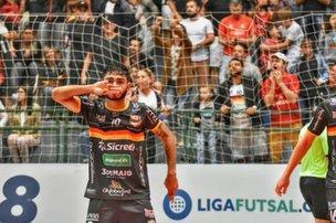 Ala Ceará é um dos destaques da equipe na competição. (Blumenau Futsal/Sidnei Batista)