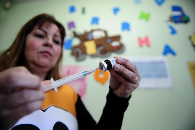 CAXIAS DO SUL, RS, BRASIL 18/08/2018UBS São José tem grande movimento no Dia D da vacinação contra o sarampo e a poliomielite. (Felipe Nyland/Agência RBS)