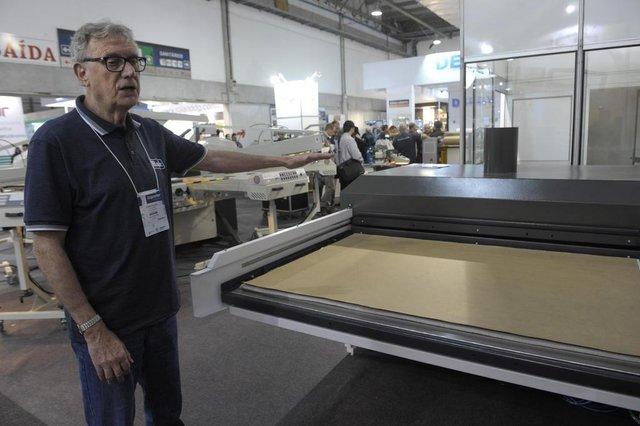 Blumenau - SC - Brasil - 21082018 - Febratex abre as portas para a inovação da indústria têxtil, vila germânica Blumenau. empresa Mogk Haroldo