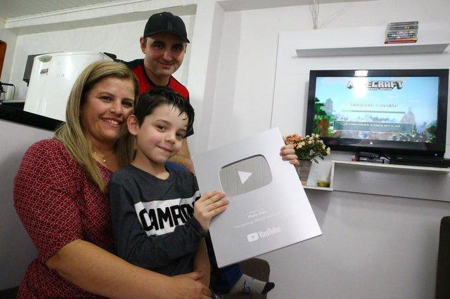 GRAVATAÍ - BRASIL -  Piero Start, youtuber de sete anos, que tem mais de meio milhão de inscritos no seu canal. (FOTO: LAURO ALVES)