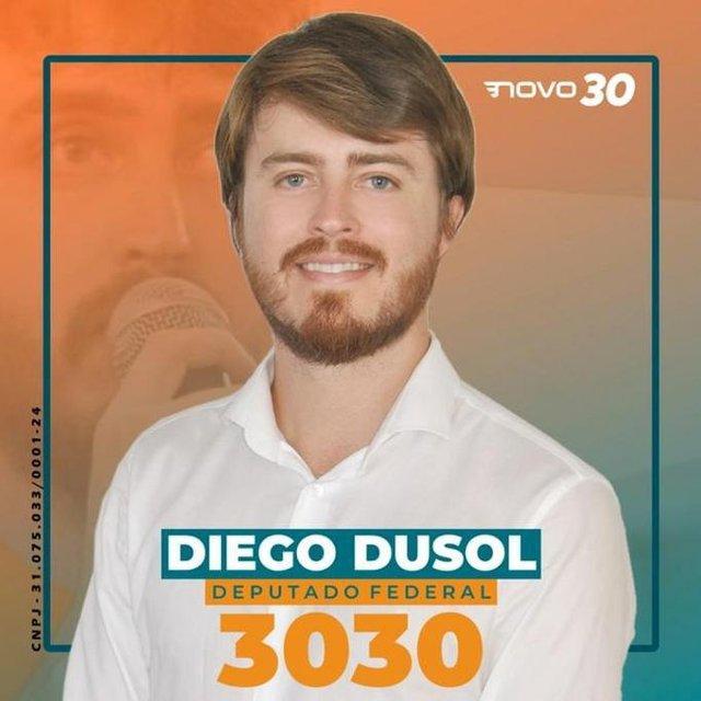 Diego Dusol, candidato a deputado federal pelo Novo na Paraíba.