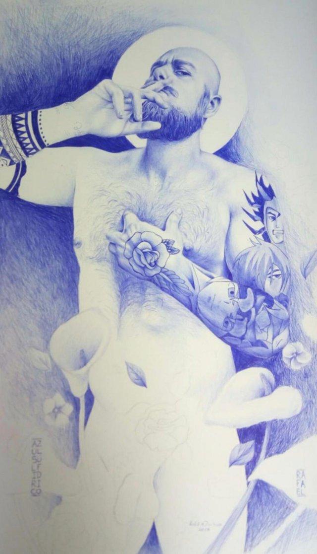 Imagem da exposição Corpo Santo, do artista Rafael Dambrós.