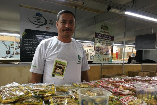 Produtor de Minas Gerais na Feira de Agricultura Familiar da Expointer. Na foto Luiz Carlos de Almeida