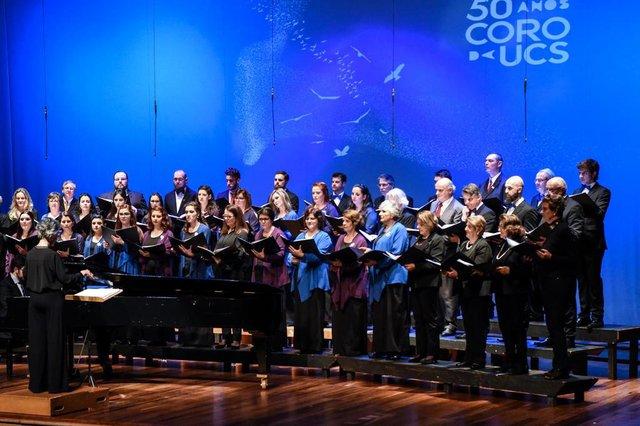 Coro da UCS faz apresentação neste domingo, em Nova Prata