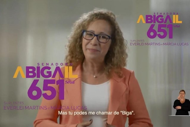 Abigail Pereira , candidata a senadora, Biga, eleições 2018