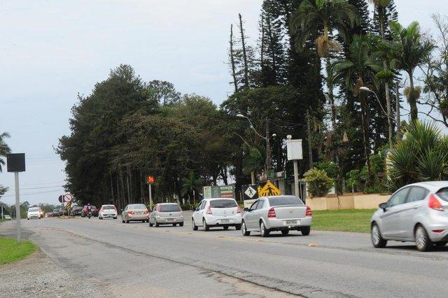 ARAQUARI,SC,BRASIL,02-09-2018.O início das obras de duplicação da BR-280 em Araquari, ainda depende de autorização do Ministério dos Transportes.(Foto:Salmo Duarte/A Notícia)