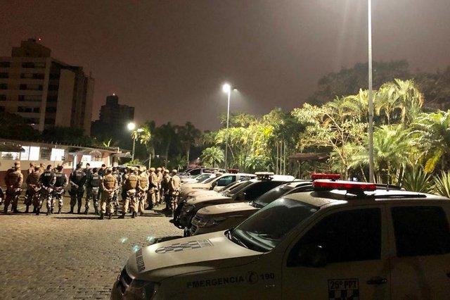 Reforço na PM após ataques criminosos em Joinville