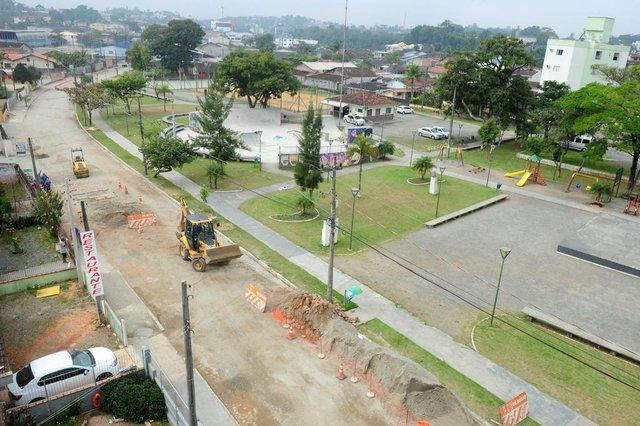 JOINVILLE,SC,BRASIL,31-08-2018.Obras na praça Tiradentes.(Foto:Salmo Duarte/A Notícia)