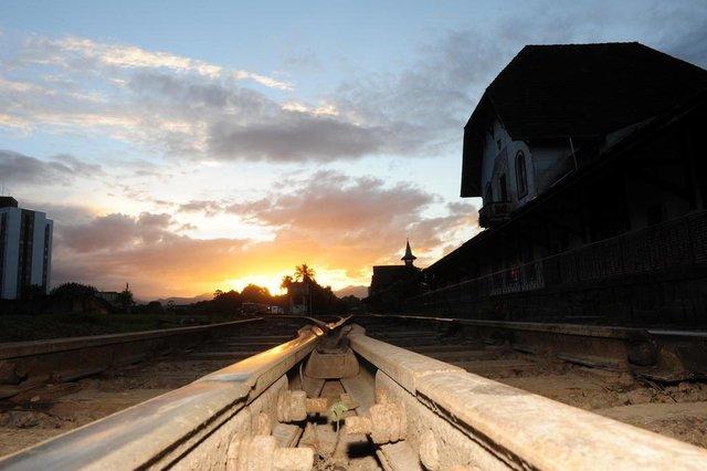 JOINVILLE,SC,BRASIL,06-09-2018.Governo Federal inclui recurso para obra do contorno ferroviário no orçamento de 2019.Estação Ferroviária.(Foto:Salmo Duarte/A Notícia)
