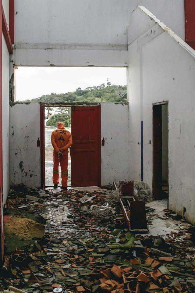 São José, SC 13.09.2018: Imagens de abandono do Ginásio São José (Foto: Diorgenes Pandini/Diario Catarinense)Indexador: Diorgenes Pandini