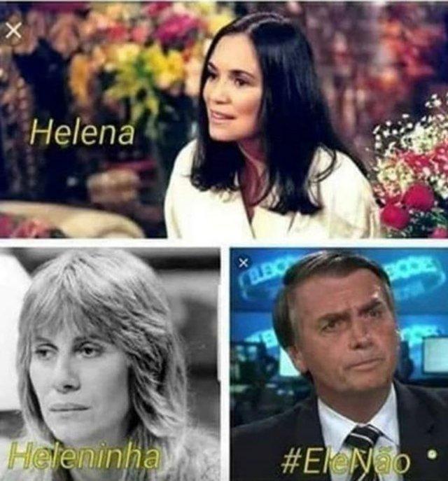 Meme com a hashtag #elenao