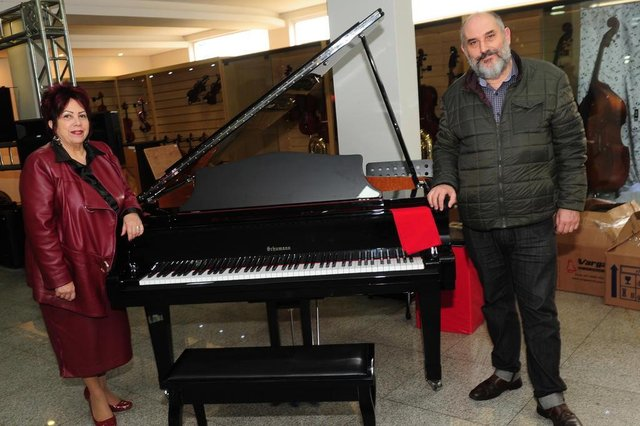 JOINVILLE,SC,BRASIL,17-09-2018.1º Pianíssimo de Joinville.Albertina Tuma e Carlos Branco.(Foto:Salmo Duarte/A Notícia)