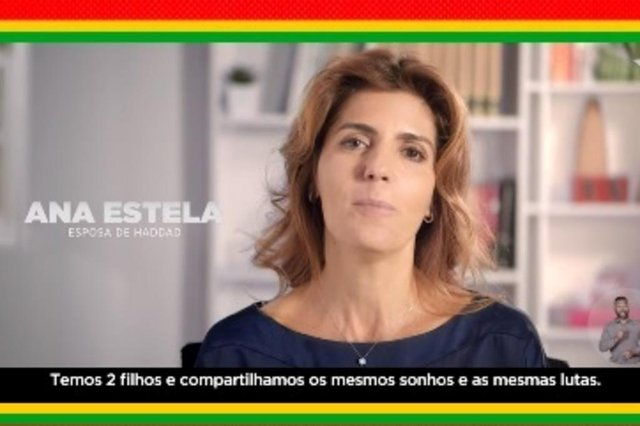 Ana Estela Haddad, esposa do candidato a presidente Fernando Haddad (PT)