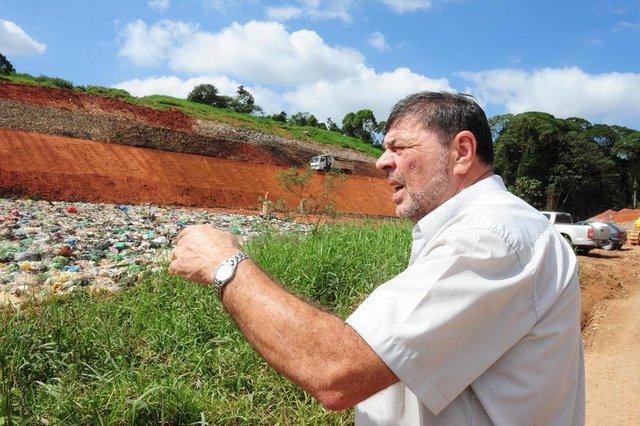 JOINVILLE,SC,BRASIL,21-09-2018.Aterro Sanitário de Joinville,Luiz Antonio Weinand.(Foto:Salmo Duarte/A Notícia)