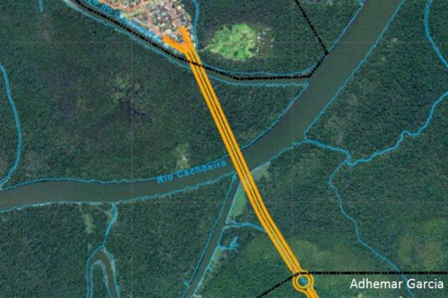 Projeto da Ponte Joinville, que vai ligar os bairros Adhemar Garcia e Boa Vista