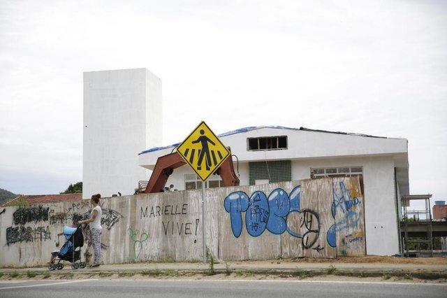Florianopolis, SC, Brasil, 23.10.2018: Creches de Florianopolis que deveriam estar prontas estão ainda em obras. (Foto: Diorgenes Pandini/Diario Catarinense)