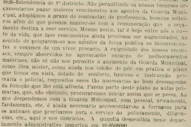 Relatórios do intendente de Caxias do Sul, José Pena de Moraes, relativo aos anos 1918-1919