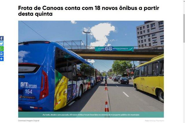 matéria canoas, transporte público, ônibus seminovos, canoas, prefeitura, dg no busão
